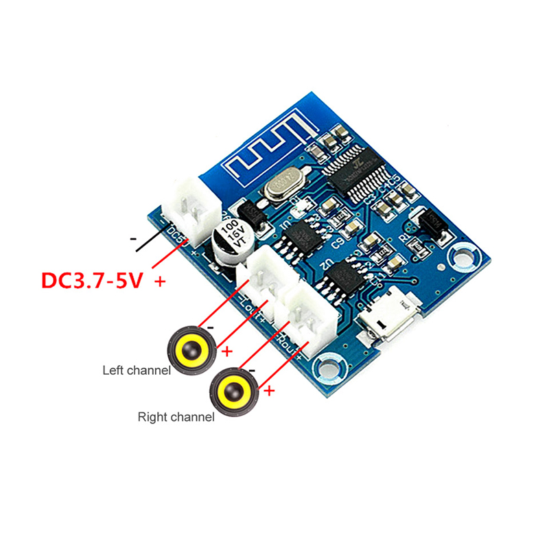 Image 2 - Bluetooth 4.2 Power Amplifier Board Audio Module Stereo channel 5W*2 With Charging DIY Modified Speaker-in Amplifier from Consumer Electronics