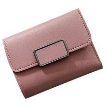 Fashion Women Mini Wallet Vintage Women Purse Card Storage PU Leather Wallet Handbag 6color
