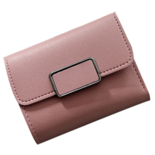 Fashion Women Mini Wallet Vintage Women Purse Card Storage PU Leather Wallet Handbag 6color