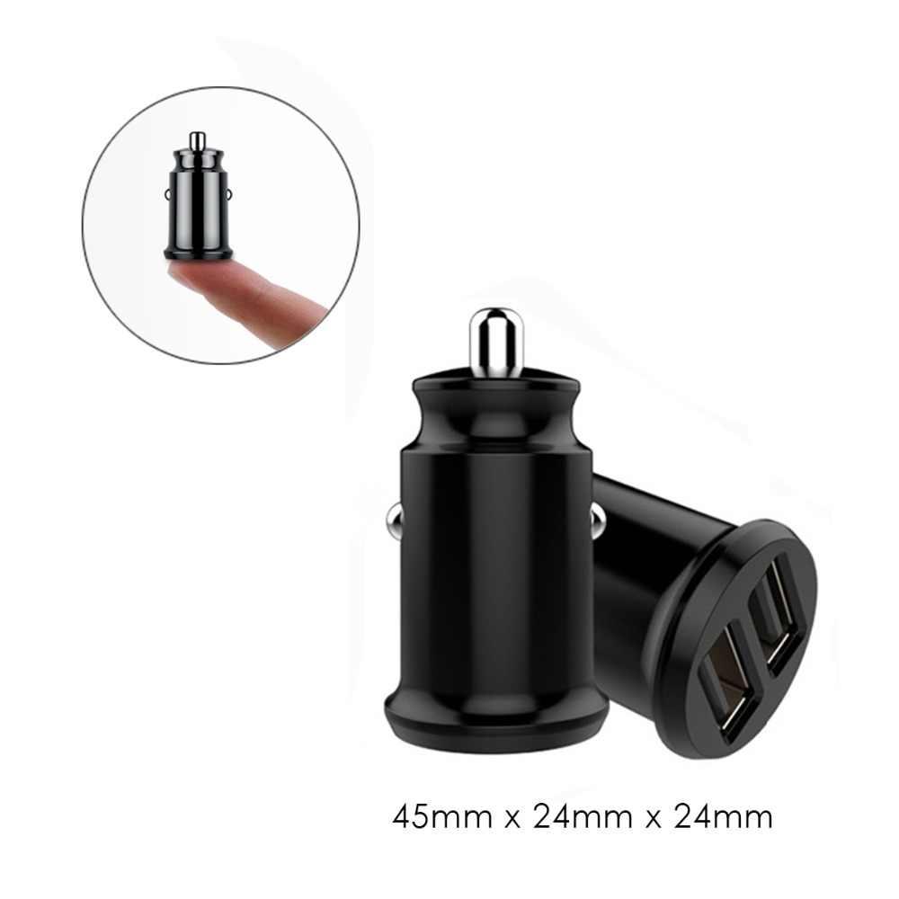 SOONHUA شاحن سيارة USB صغير مزدوج 5 فولت 3.1A شاحن سيارة سريع شاحن مع التوزيع الحالي الذكي لجدول الهاتف المحمول