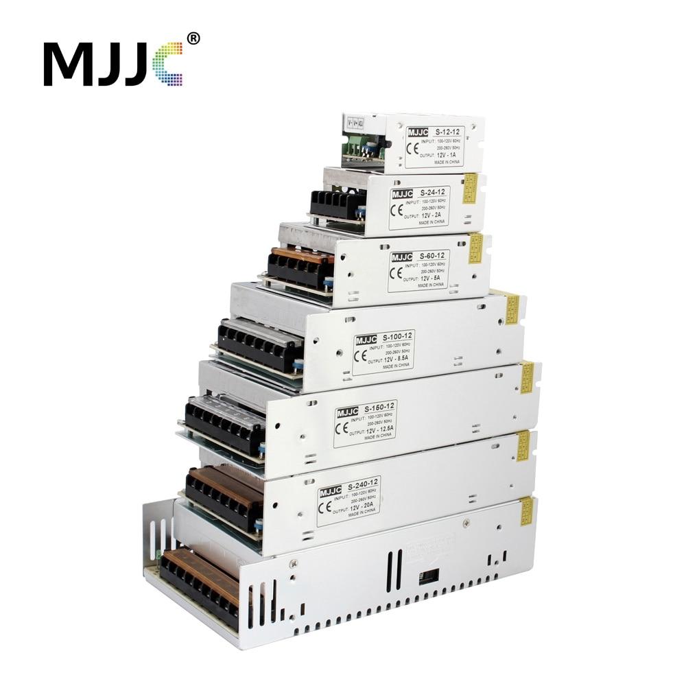 Unidad de fuente de alimentación LED 12V DC 1A 2A 5A 10A 15A 20A 30A 50A 70A 840W Adaptador de corriente de conmutación Suministra 110V 220V AC a 12 voltios DC