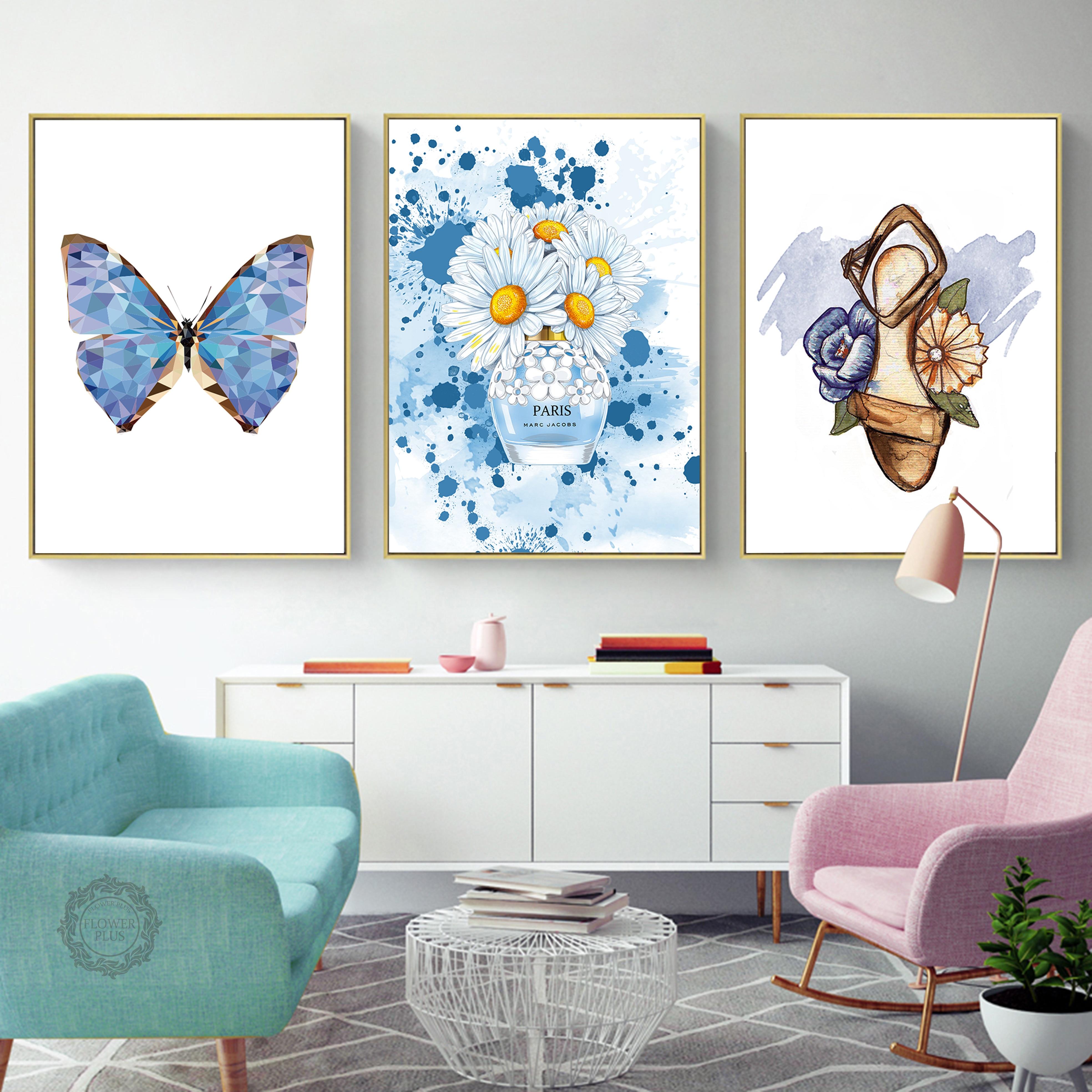 Classic Shoes Watercolour Wall Art Print Poster Beauty Fashion Home Decor Gift