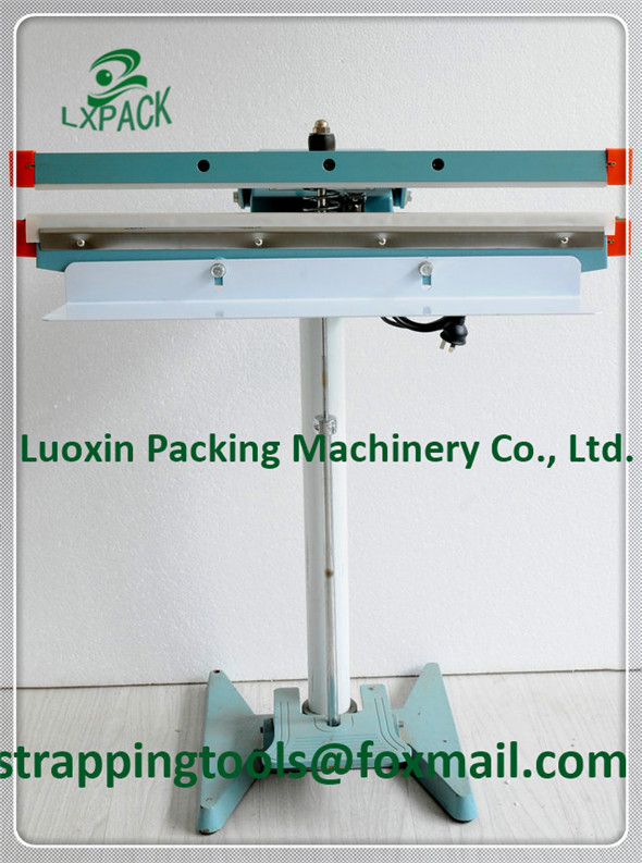 LX-PACK Brand Long type foot heat sealer 300-1400mm Foot Pedal operated double impulse heat sealers Pedestal Impulse Sealers lx pack lowest factory price foot pedal impulse sealer heat sealing machine plastic bag sealer 300 1400mm pedal sealer