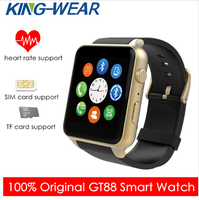 Kingwear GT88 Smart Watch Android Pedometer Heart Rate Tracker Lighting Sport Smartwatch for IOS Andriod Phone Camera Watch