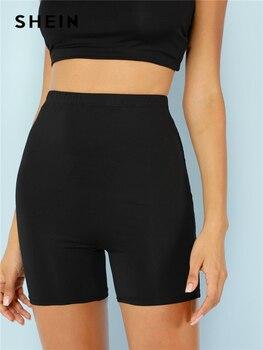 41003f2f2 SHEIN Vertical Striped Skinny Pants Women Elastic Waist Pocket OL ...
