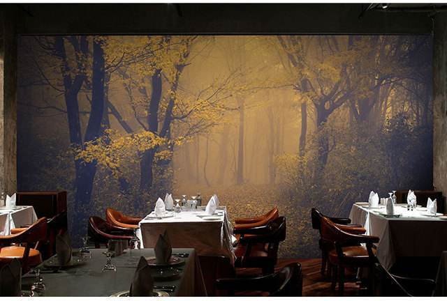 haunted background horror escape wall 3d mysterious mural forest paper decorative zoom mouse