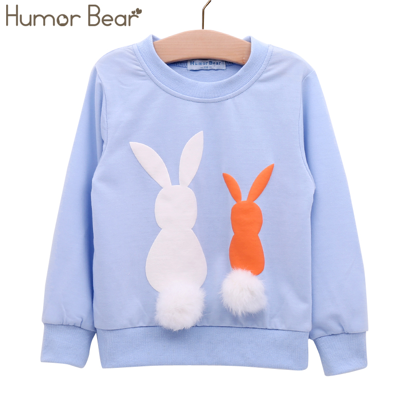 Humor Bear Girls Clothing Kids Sweater NEW Autumn Girl Long Sleeve Children Clothes Cartoon Child Coat Outwear Clothing 3-7Y humor bear baby girl clothes new spring and autumn long sleeve t shirt pink princess dress kids clothes girls clothing