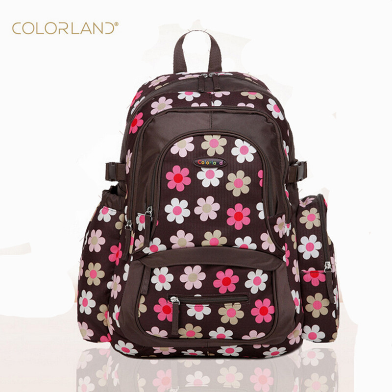 Colorland Mum Backpack Diaper Bag  Baby Bag Organizer Nappy nursing Maternity Bags fashion print  large capacity mother Handbag 2014 sale colorland baby diaper bags set multifunctional fashion nappy bag large capacity double shoulder maternity cross body