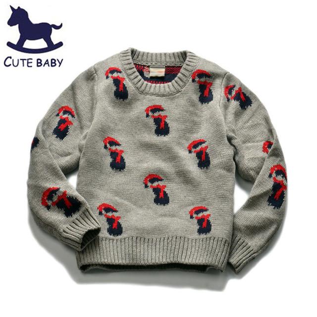 Suéteres Niños Pullover O-cuello del Suéter de Los Niños Ropa de Invierno Bebé Ropa de los muchachos Suéter de Ropa para 5-6-7-8yrs Bosy