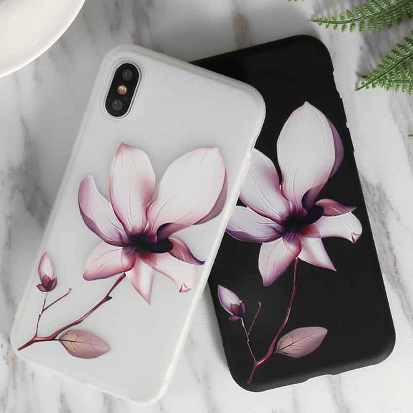 <font><b>3D</b></font> Relief Lotus Flower Phone <font><b>Case</b></font> For <font><b>Vivo</b></font> X21 Ud Y51 V7 X20 X9 X6 X7 X9S Plus Y75 <font><b>Y69</b></font> Y67 Y66 Y65 Y53 V3 V5 lite V5S V3 Max image