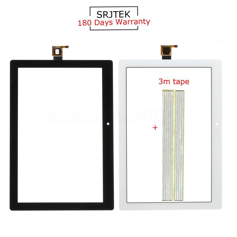 For New Lenovo Tab 2 A10-30 YT3-X30 X30F TB2-X30F X30 A6500 Replacement Touch Screen with Doubled-face Black White new touch screen digitizer replacement for tab 2 a10 30 yt3 x30 x30f tb2 x30f x30 a6500 black white free shipping