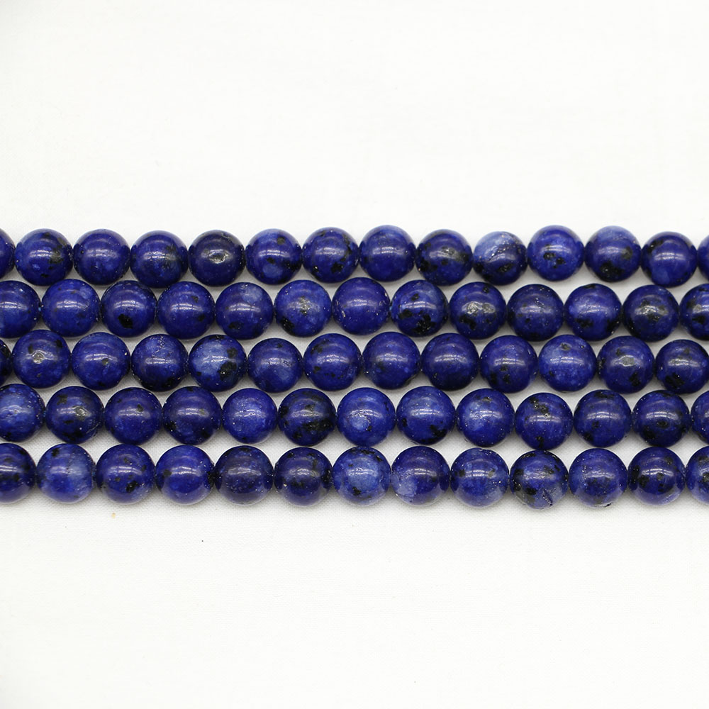 Jewelry & Accessories 1strand/lot 4/6/8/10/12 Mm Natural Stone Lapis Lazuli Beads Loose Spacer Bead For Jewelry Making Findings Diy Bracelet Necklace Reliable Performance Beads