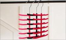 1PC Hot Sale Tie Belt Towel Velvet Flocked Non-Slip Scarf Shawl Clothes Hanger Racks Holders MZ 004