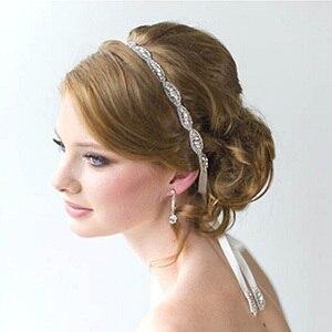 96688c74e34a Wedding accessori per capelli fiori cerimonia nuziale della sposa copricapo  decorato con perle fronte della festa ...