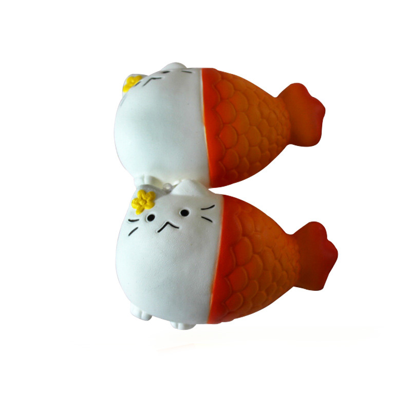 New 13CM Jumbo Fun Cat Head Fish Tail Squishy Toy Anti Stress Cute Dolls Cream Squeeze Squishies Toy Reliever Fun Decor