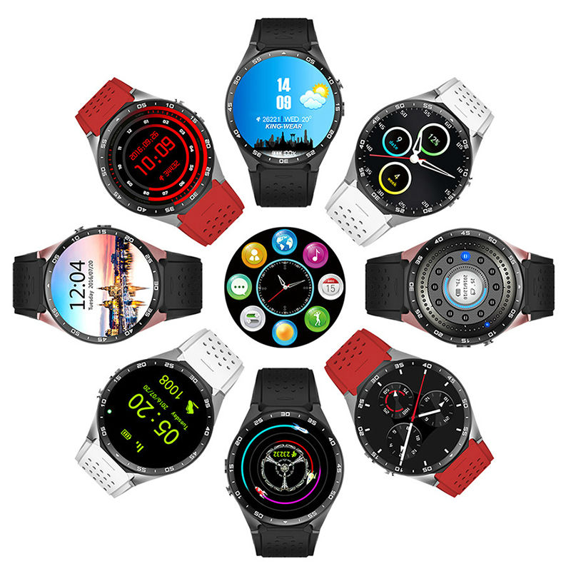 XGODY GPS Watch KW88 Android font b Smartwatch b font With SIM card Heart Rate Pedometer