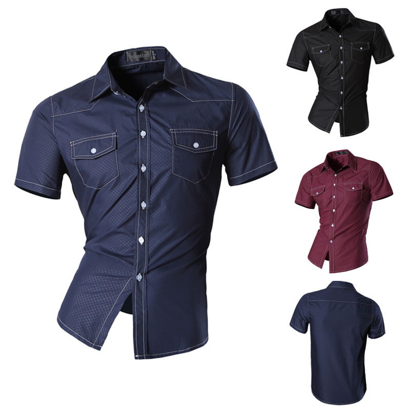 Popular Short Sleeve Button Down Shirts Men-Buy Cheap Short Sleeve ...