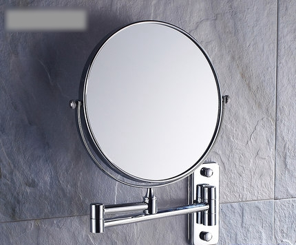 8 Inch Double Side Modern Bath Mirrors Shave Makeup Extend Arm 3x Magnifying Espelho Do Banheiro Bathroom Sanitary Accessories bath mirrors 8 double side brass shave makeup mirror chrome hotel wall mounted extend with arm round base 3x magnifying 1758