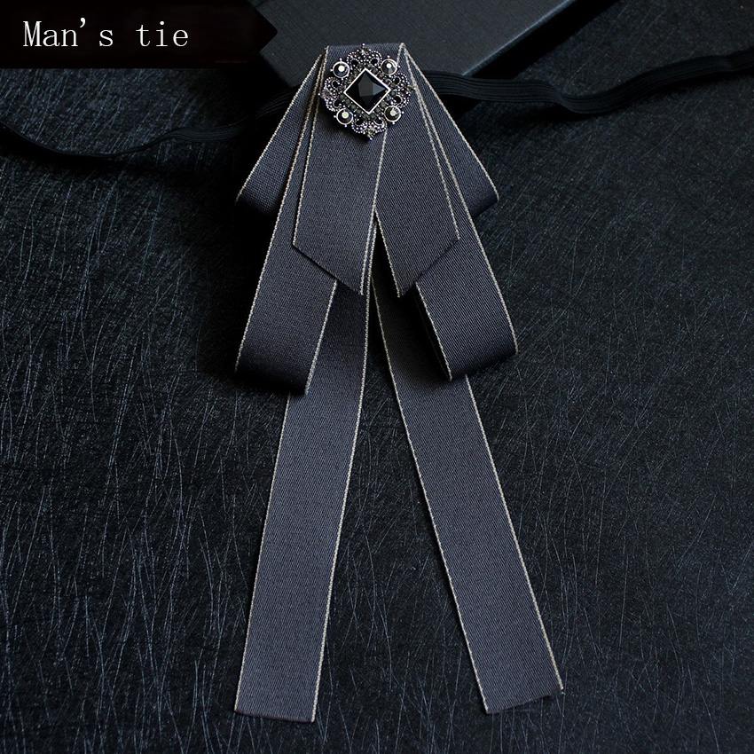 NEW Novelty fashion Wedding Party Polyester Bowtie Noeud Papillon Men Bow Tie Solid Color Neckwear Cravat Pocket cloth brooch in Men 39 s Ties amp Handkerchiefs from Apparel Accessories