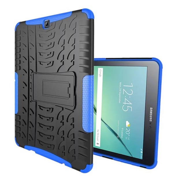 "Dazzle Heavy Duty Impact Hybrid Armor Kick stand Hard case For Samsung GALAXY Tab S2 9.7"" T810 T815 T819 T813 child Stand cover"