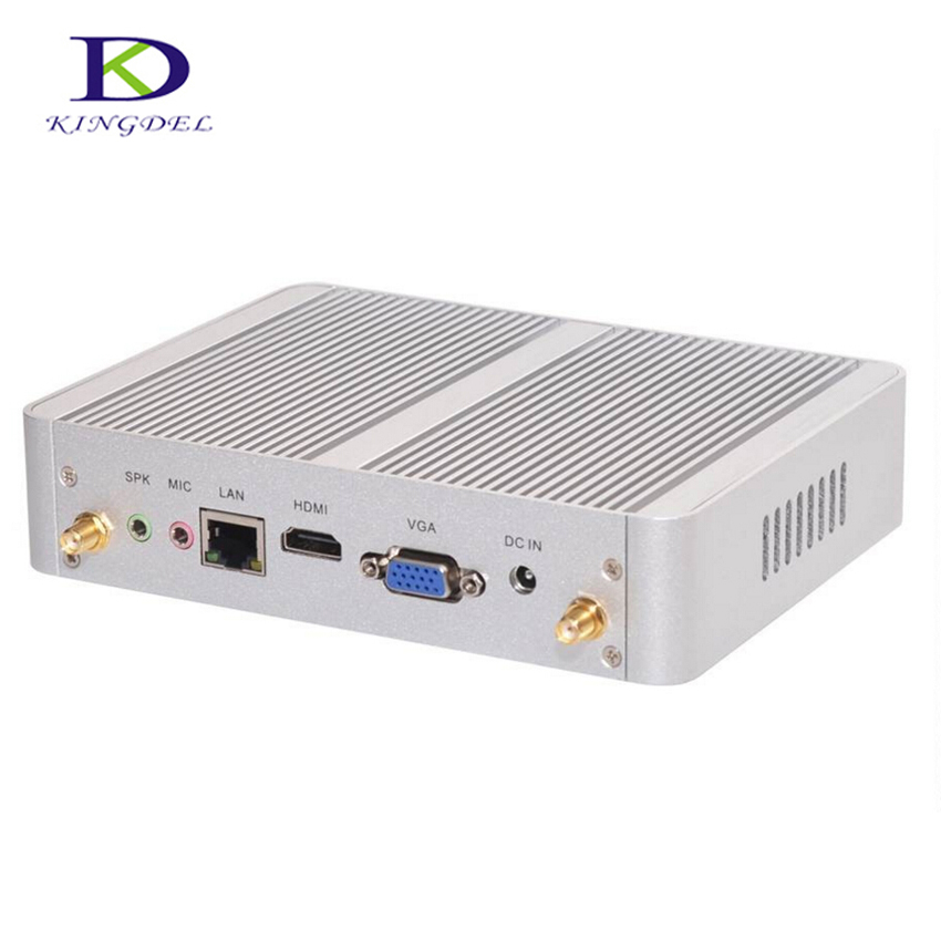 3 ans de garantie Kingdel Mini ordinateur de bureau Core i3 4005U double coeur/Celeron N3150 Quad Core sans ventilateur de poche PC HDMI VGA Windows10 Pro