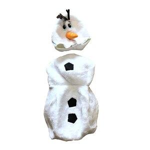 Image 5 - Роскошный плюшевый восхитительный Детский карнавальный костюм на Хэллоуин для малышей, Детские вечерние платья с героями мультфильмов и снеговиком