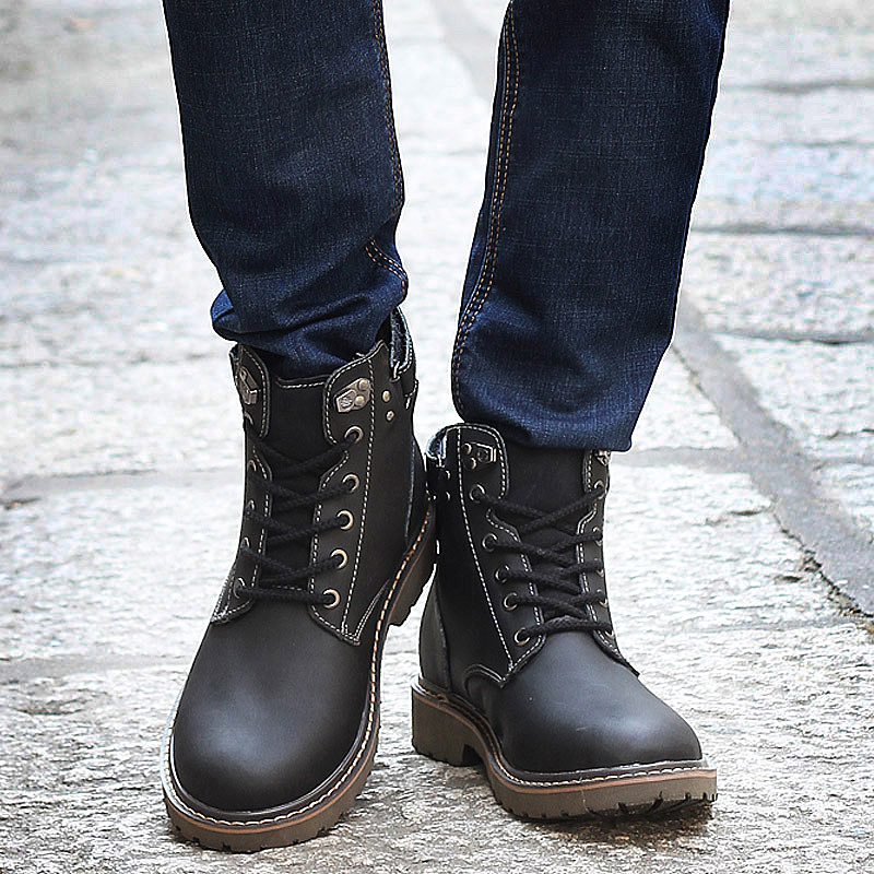 Aliexpress.com : Buy New 2015 Men Boots PU Leather Ankle Boots