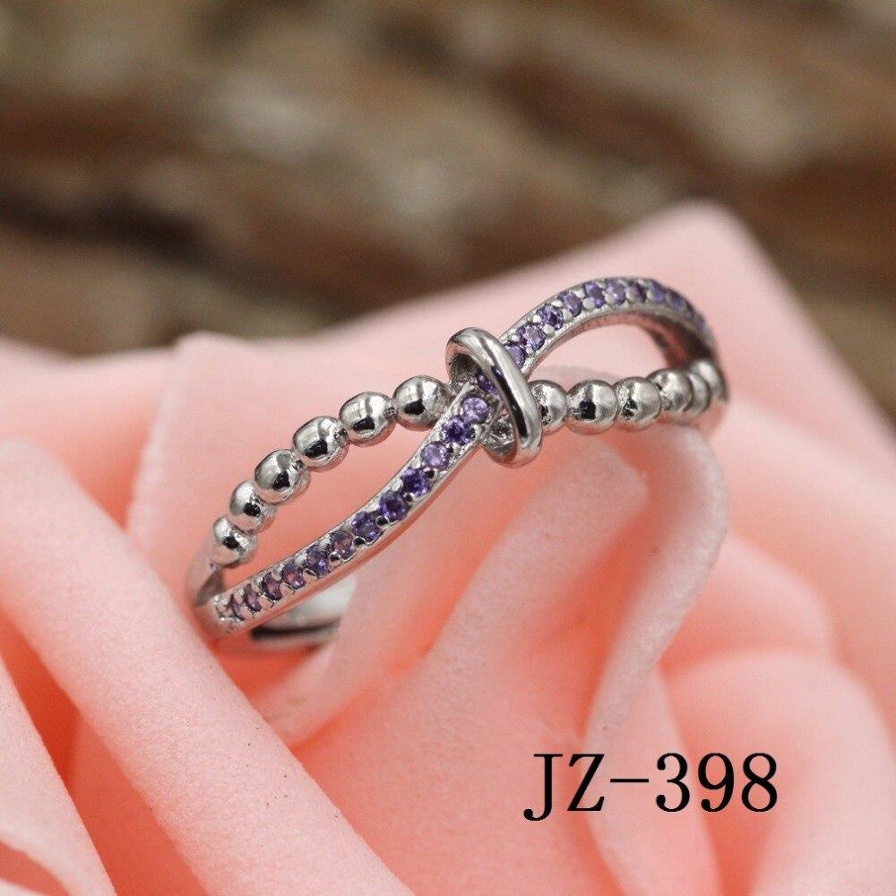 ღ ღWomen\'s Fashion 925 Sterling Silver Ring Wedding Ring Crystal ...