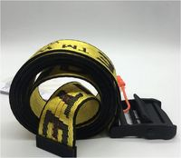 Fashion new 18ss Industrial Belt Street Style Canvas Belt for Women 200cm metal Buckle Punk Hip pop Accessories Waist Belts