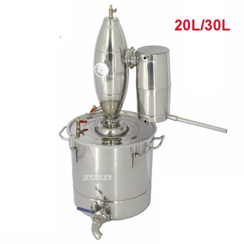 20L/30L Home DIY Distiller 304 Stainless Steel Home Use Wine Brewing Machine Alcohol Wine Distiller Make Distillation Equipment цена