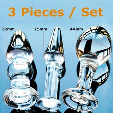 Pyrex Glass Crystal Butt Plugs