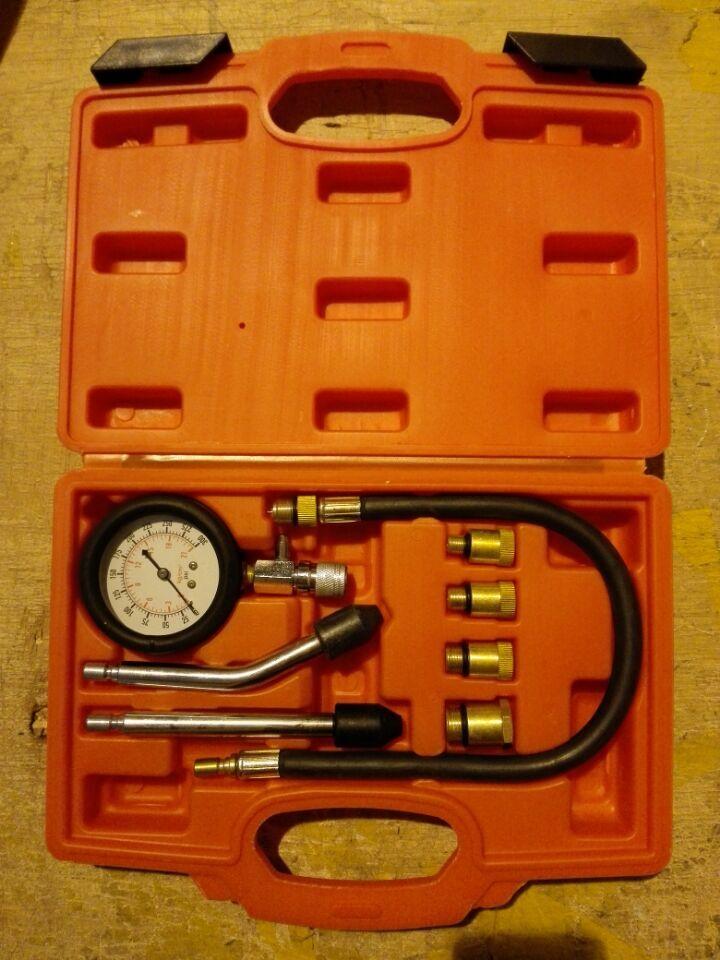 2 pièces De Cylindre Automobile Manomètre Polyvalente Essence Testeur de Compression Moteur Kit Pour Voitures Pour Moto DHL Gratuit
