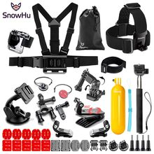SnowHu for Gopro Accessories Chest Strap Belt Body Tripod Harness Mount For Go pro Hero 7 6 5 4 Xiaomi Yi 4K Camera GS83