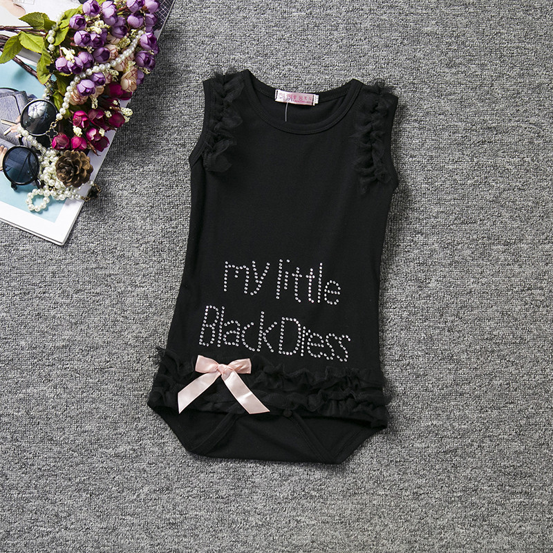 Brand Baby Girl Summer Clothes Body for Babies Romper Child Girl Rompers for Newborn Girls Print Digital My Little Black Dress | Happy Baby Mama