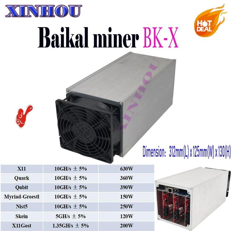 Baikal BK-X gigante X10 minero 10Gh/s X11/Quark/innumerables-Groestl/Qubit/madeja de apoyo 7 Algoritmos mejor que Antminer S9 T9 D3 M3