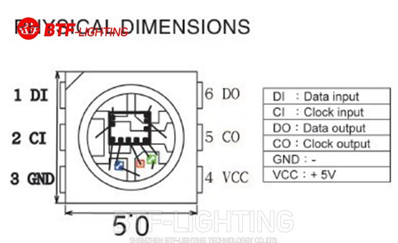 10 ~ 1000pcs SK9822 (Ұқсас APA102) Жарықдиодты ICMS - LED Жарықтандыру - фото 4