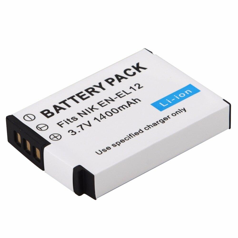 1pc 1400mAh EN-EL12 ENEL12 es EL12 batería para Nikon COOLPIX S630 S610 S640 S1000 S1200pj S31 S6000 S6100 S6150 AW120s P340 S960
