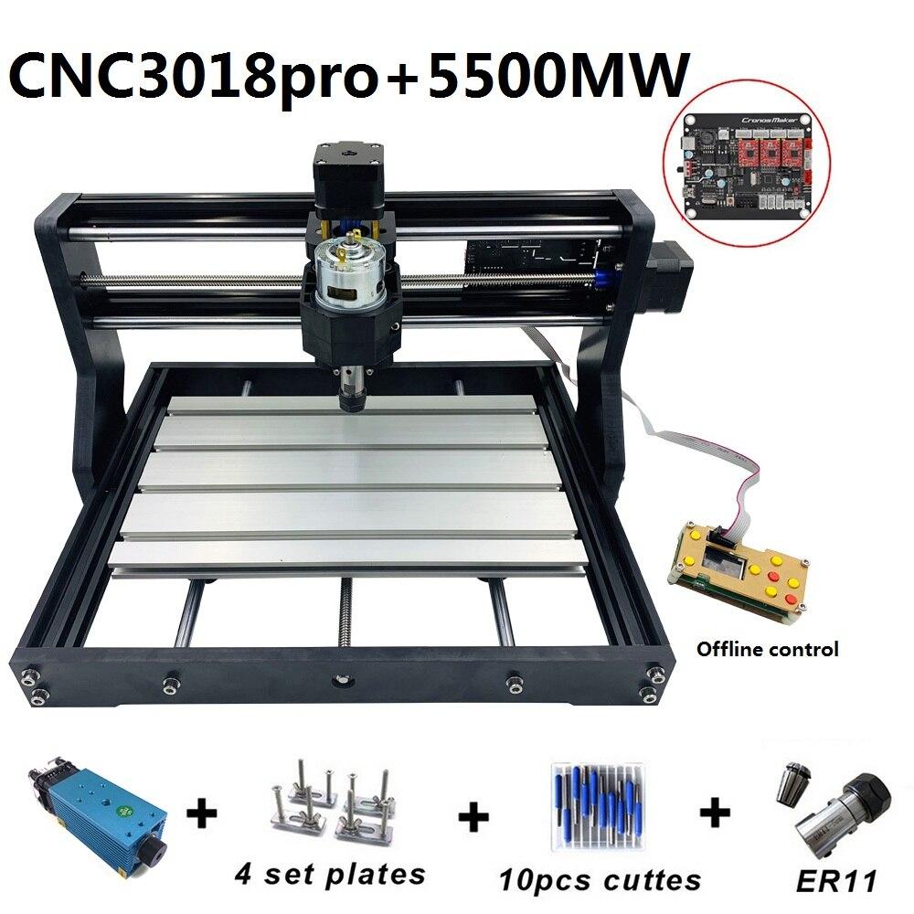 Mise à niveau Mini CNC3018 Machine de gravure Laser 5500 mw 2500 mw 500 mw routeur en bois PCB fraisage bricolage Mini sculpture sur bois Machine pour bricolage
