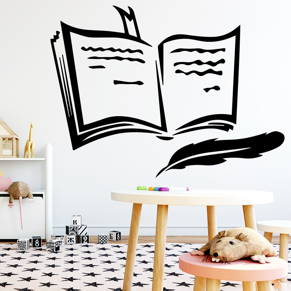 NEW Book Wall Sticker Decal Home Decor For Bedroom Decoration Party Wallpaper
