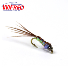 Wifreo 6PCS 14#  Tungsten Beadhead Pheasand Tail Nymph Fly Trout Fly Fishing Baits