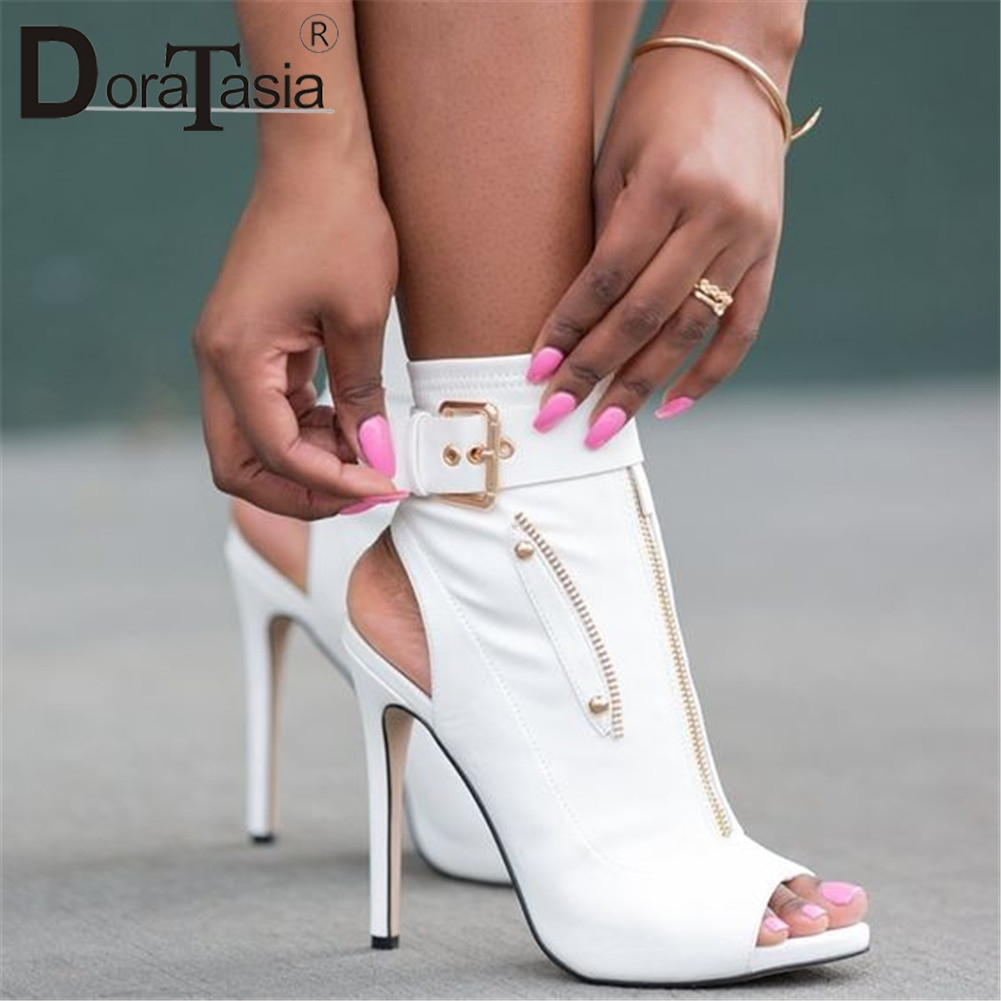 DORATASIA Brand Big Size 47 High Heels Women Shoes Peep Toe Sandals Quality Sexy Lady Summer Party Thin Heeled Shoes WomanDORATASIA Brand Big Size 47 High Heels Women Shoes Peep Toe Sandals Quality Sexy Lady Summer Party Thin Heeled Shoes Woman