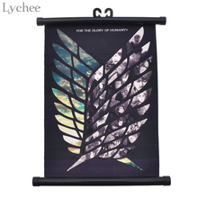 Lychee Japanese Anime Attack on Titan Wings of Liberty Canvas Scroll Painting Home Wall Print Modern Art Decor Poster
