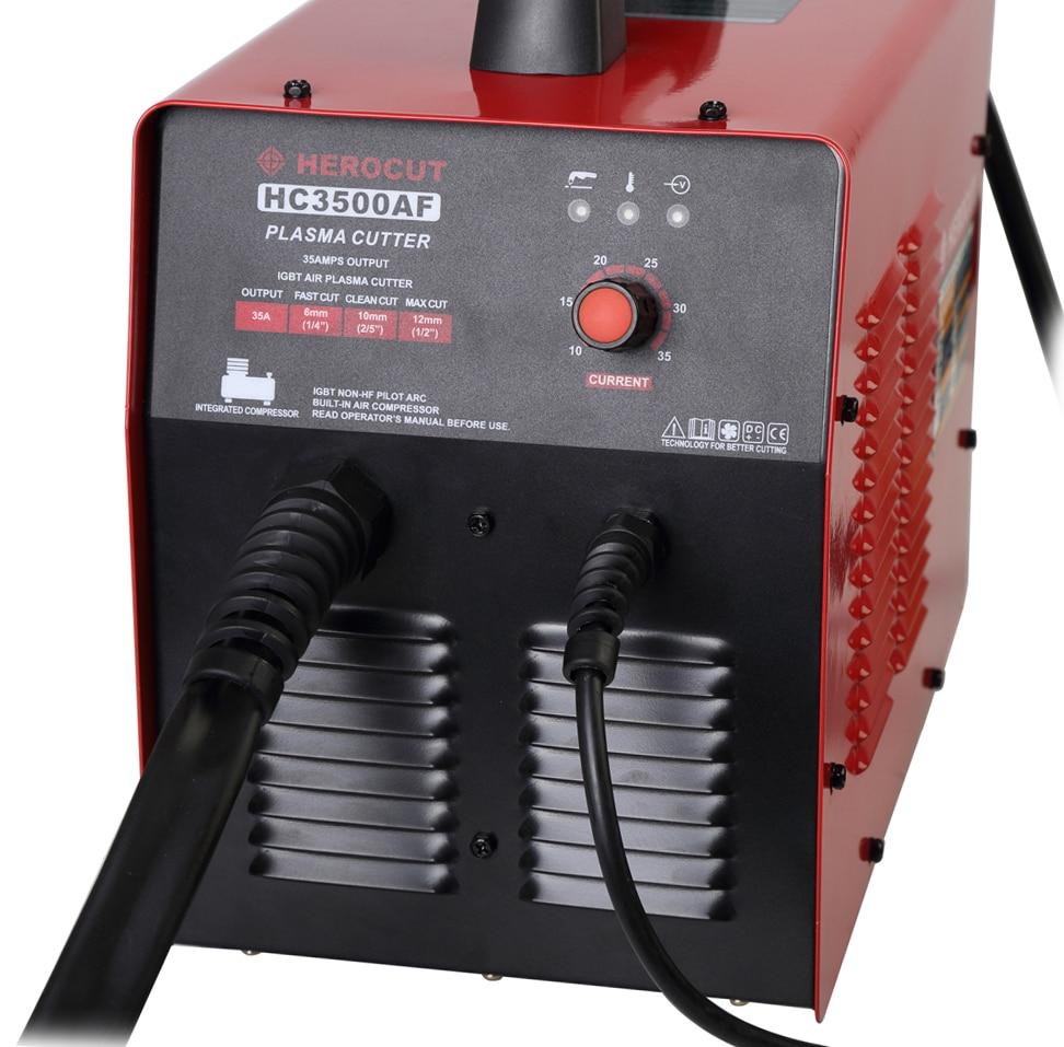 Plasma Cutter HC3500AF With Compressor 220V 35Amps Non HF Pilot Arc Plasma cutting machine 10mm Clean Cut Max Thickness 14mm
