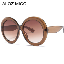 ALOZ MICC 2019 New Women Round Sunglasses Fashion Oversized Goggle Sun Glasses Vintage Shades Eyewear UV400 Q97