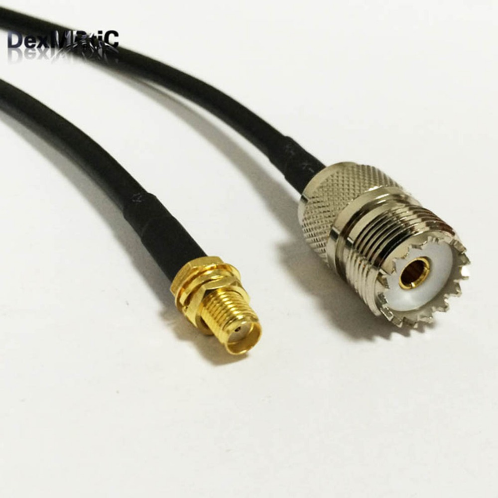 1PC New SMA Female Jack To UHF Female Jack  Connector RG58  Cable Pigtail Adapter 1M/2M the factory sales 4pcs set uhf pl259 so239 to sma male plug female jack rf connector 4 type test converter fast ship