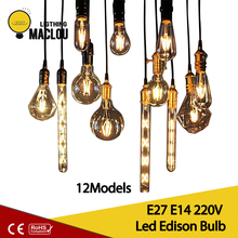 Retro Led Edison Bulb E14 E27 LED Lamp 2W 4W 6W Warm White Ampoule Vintage 220v Bombillas Light Home