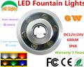 Fábrica de vendas 6 W de luz subaquática DC 24 V impermeável IP68 piscina luzes CE RoHS tanque de lâmpadas de luz