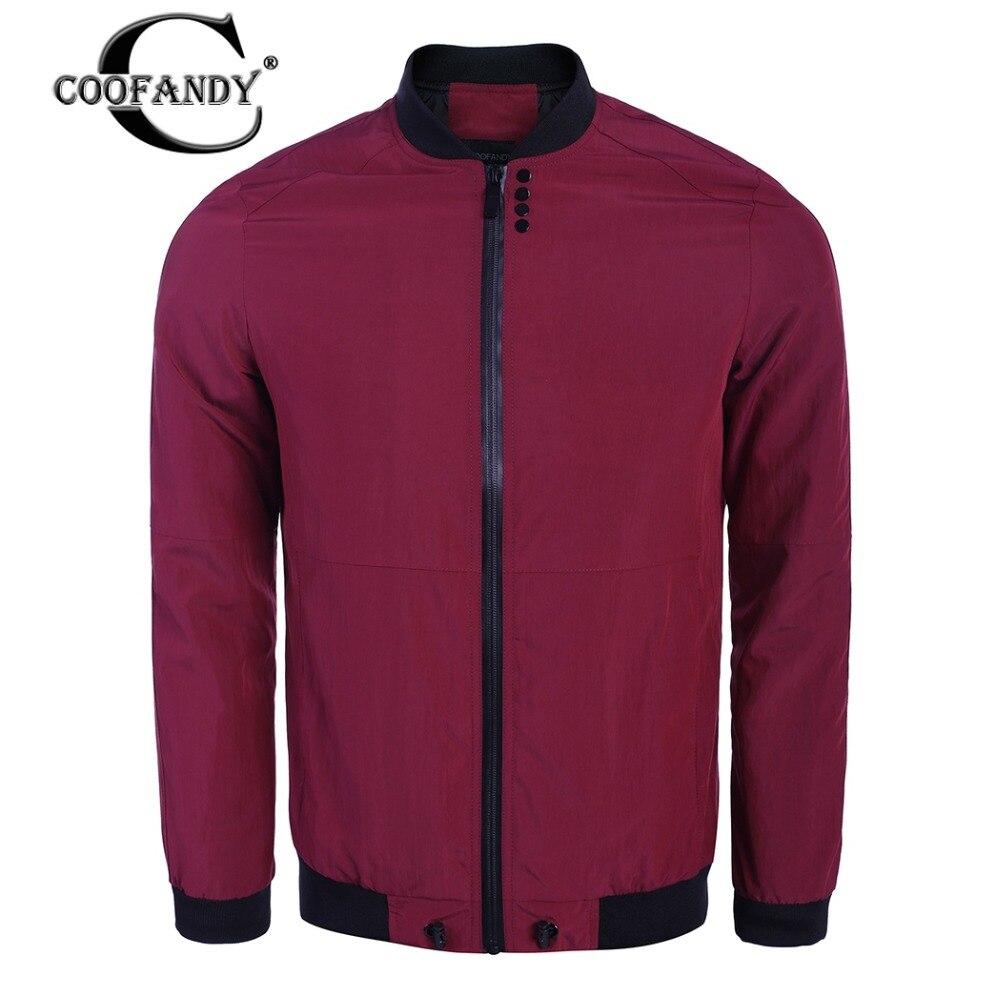 Coofandy куртка мужская брендовая одежда мужской моды Бомбер мужской куртка наивысшего качества на молнии быстросохнущие легкая верхняя одежд...