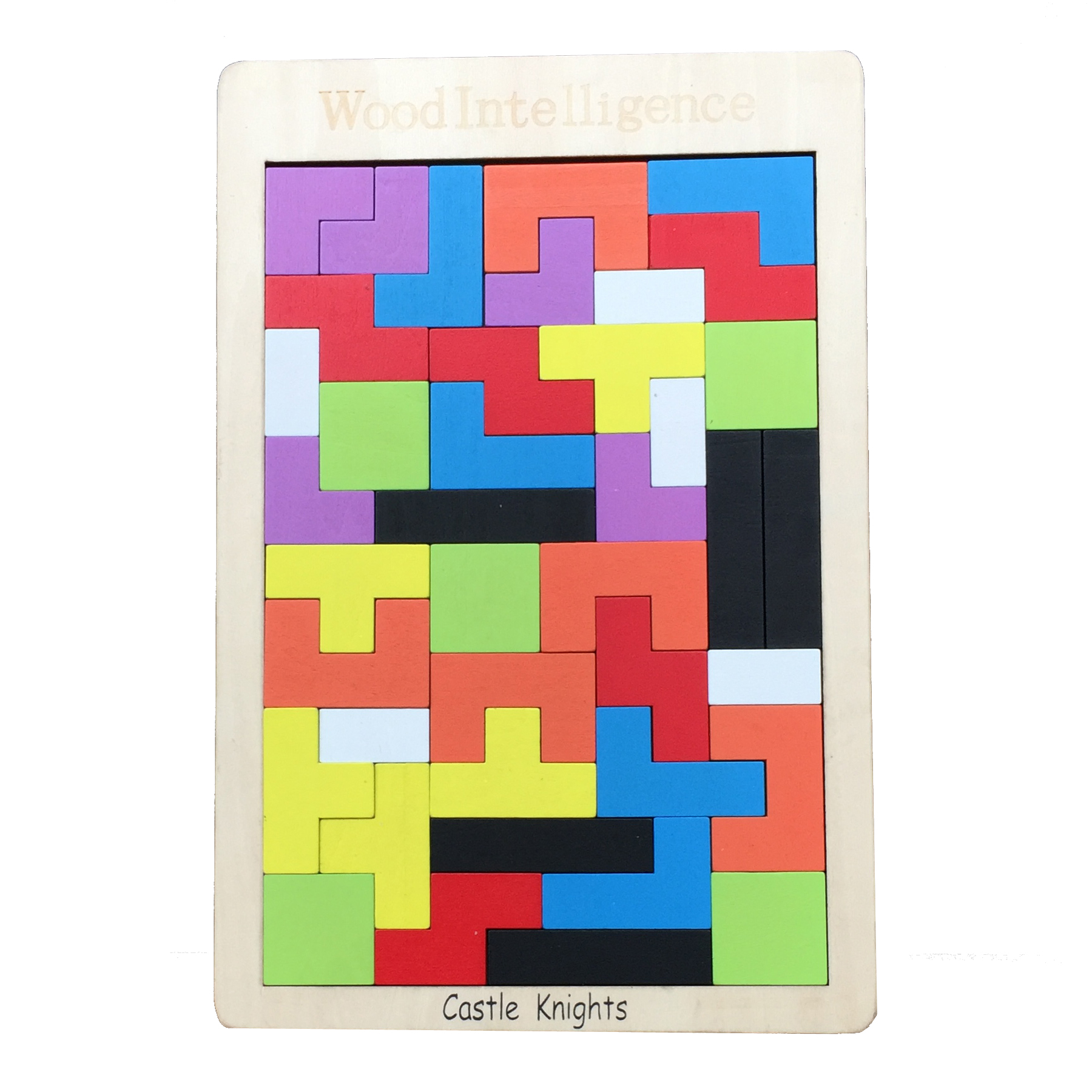 Castle Knights Baby Wooden Tetris Puzzle Toys Jigsaw Board For Kids Tellectual Educational Toy
