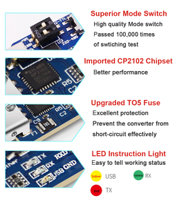 Image 5 - WitMotion USB UART 6 In 1 Converter, Multifunctional(USB TTL/RS485/232,TTL RS232/485,232 485)Serial Adapter, with CP2102 Module